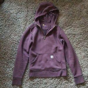 Womens carhartt quarter zip up hoodie. LIKE NEW